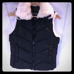 Big Chill Puffer Vest Faux fur collar S